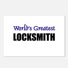 Worlds Greatest LOCKSMITH Postcards (Package of 8)