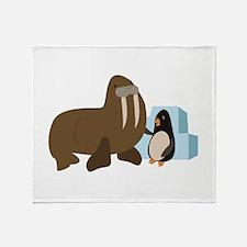 Walrus & Penguin Throw Blanket