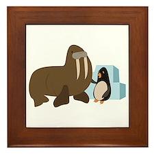 Walrus & Penguin Framed Tile