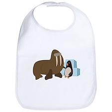 Walrus & Penguin Bib
