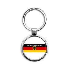Funny Euro Round Keychain