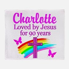 CHRISTIAN 90TH Throw Blanket