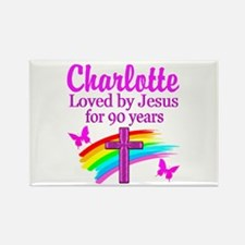 CHRISTIAN 90TH Rectangle Magnet