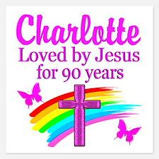 CHRISTIAN 90TH Invitations