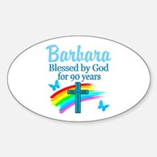 CHRISTIAN 90TH Sticker (Oval)