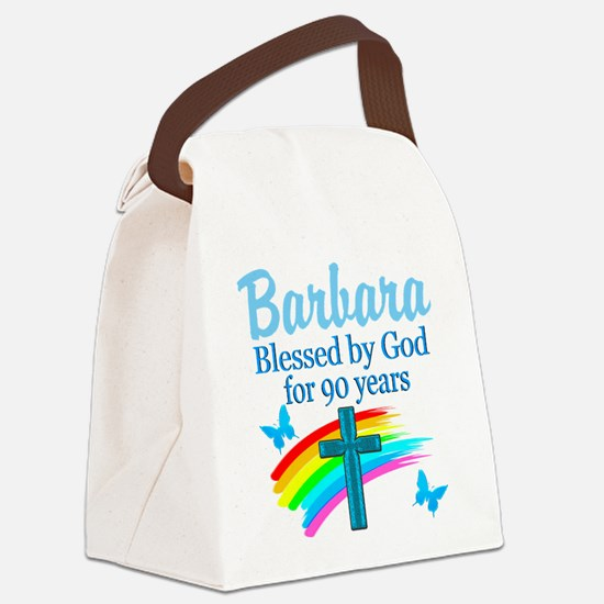 CHRISTIAN 90TH Canvas Lunch Bag