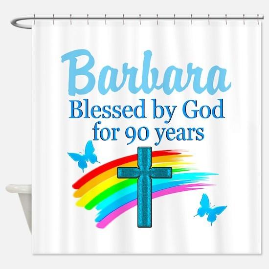 CHRISTIAN 90TH Shower Curtain