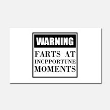 Fart Warning Car Magnet 20 x 12