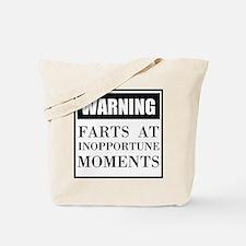 Fart Warning Tote Bag