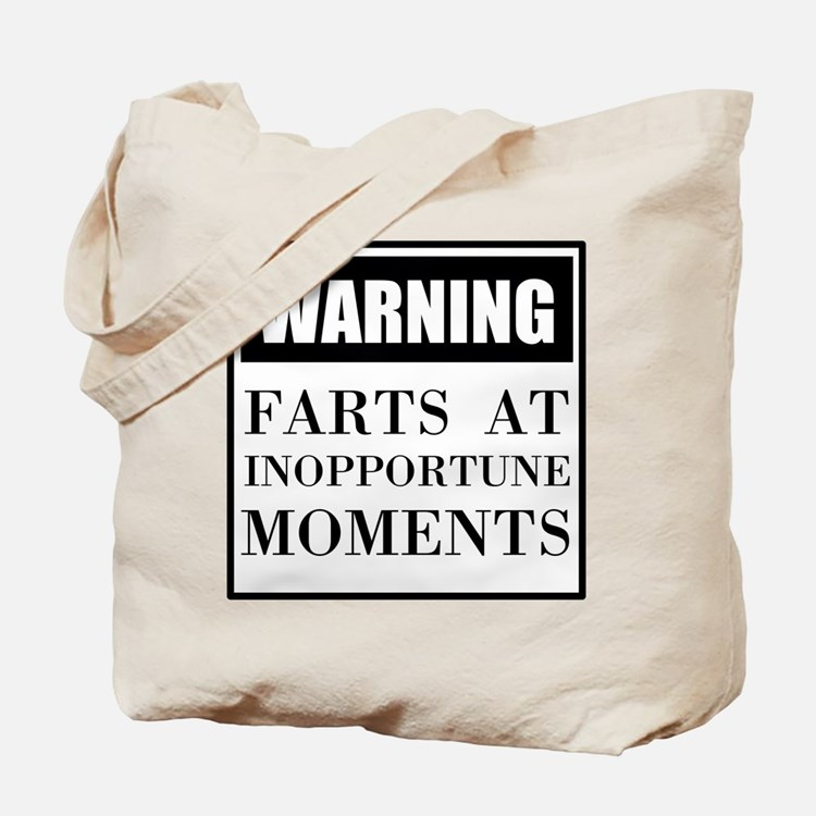 Fart Warning Tote Bag