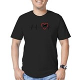 German shepherd Fitted Dark T-Shirts