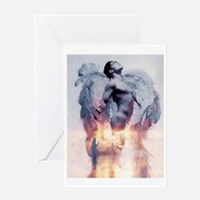 H2H MALE ANGEL FIRST  Greeting Card
