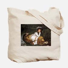 Young Lady in a Boat by Tissot Tote Bag