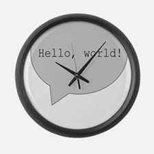 H2H MALE ANGEL PROTECTING Large Wall Clock