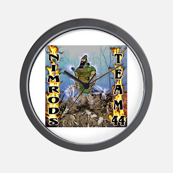 44-Official Team The Nimrods  Wall Clock