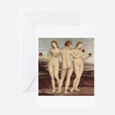 Three Graces by Raphael Greeting Card