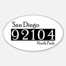 92104NP Oval Decal
