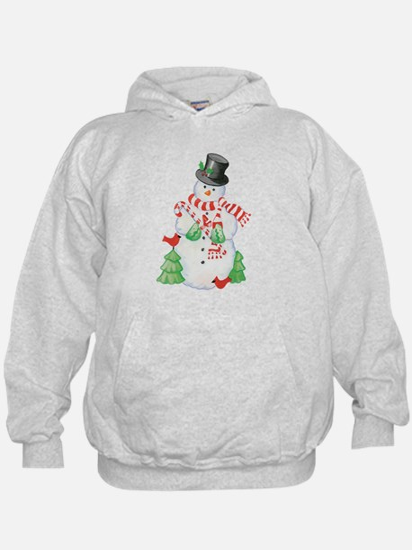 Snowman Design Akids Hoodie