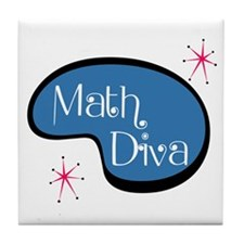 Math Diva Tile Coaster