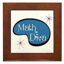 Math Diva Framed Tile