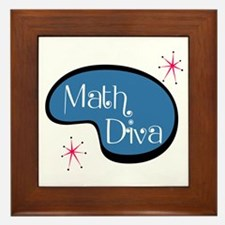 Math Diva Framed Tile