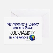 Best Journalists In The World Greeting Card