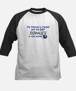 Best Journalists In The World Kids Baseball Jersey