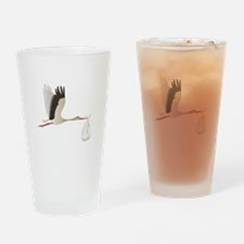 Delivery Stork Drinking Glass