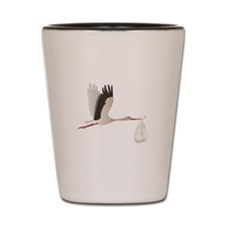 Delivery Stork Shot Glass
