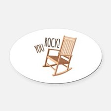 You Rock Oval Car Magnet