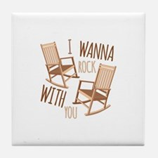 Rock With You Tile Coaster