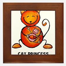 cat princess Framed Tile