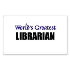 Worlds Greatest LIBRARIAN Rectangle Decal