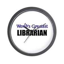 Worlds Greatest LIBRARIAN Wall Clock