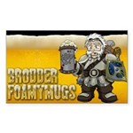 Brodder Foamymugs Rectangle Sticker