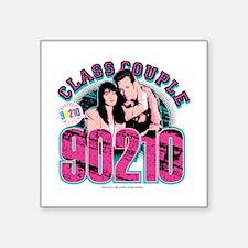 """90210: Class Couple Square Sticker 3"""" x 3"""""""