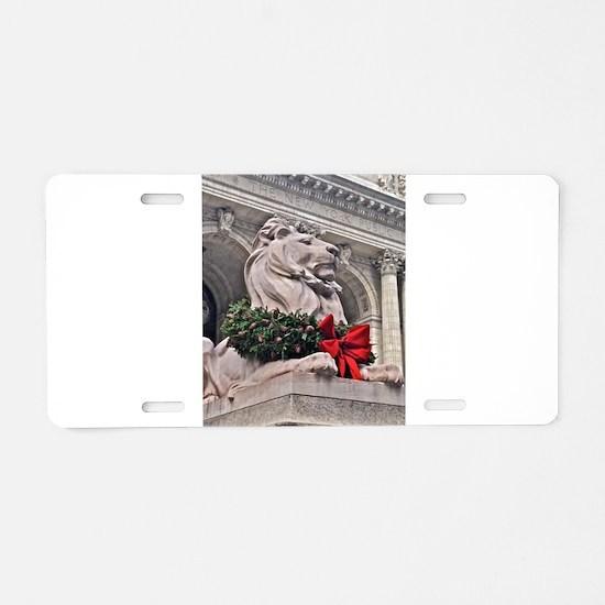 New York Public Library Lion Aluminum License Plat