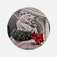 New York Public Library Lion Button
