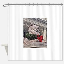 New York Public Library Lion Shower Curtain