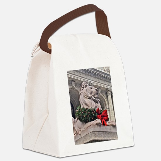 New York Public Library Lion Canvas Lunch Bag