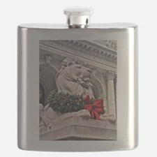 New York Public Library Lion Flask