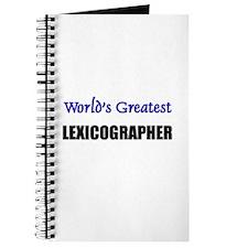 Worlds Greatest LEXICOGRAPHER Journal