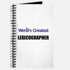 Worlds Greatest LEXICOGRAPHER Journal