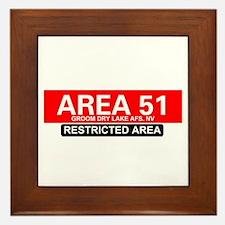 AREA 51 - GROOM LAKE Framed Tile