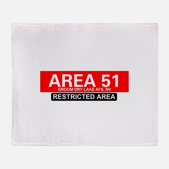 AREA 51 - GROOM LAKE Throw Blanket