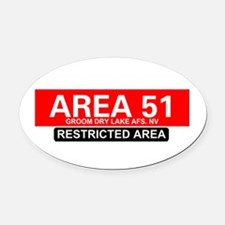 AREA 51 - GROOM LAKE Oval Car Magnet