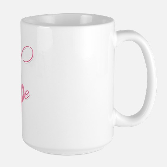 Hope - Pink Ribbon Breast Cancer Awaren Large Mug