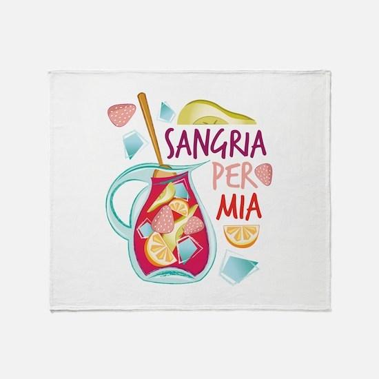 Sangria Per Mia Throw Blanket