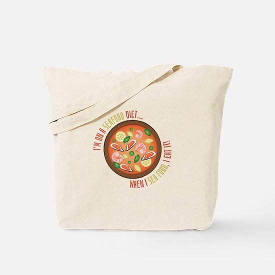 Seafood Diet Tote Bag
