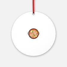 Seafood Paella Round Ornament